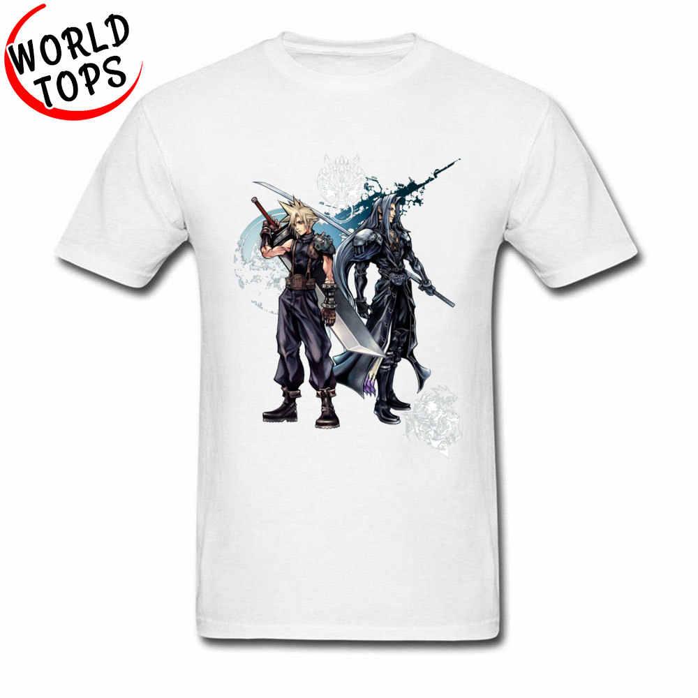 Final Fantasy Tee Gömlek Pamuk Video Oyunu Geek T Shirt Rahat Özel O-boyun Tişörtleri Bahar Komik T Shirt En Kaliteli Erkekler