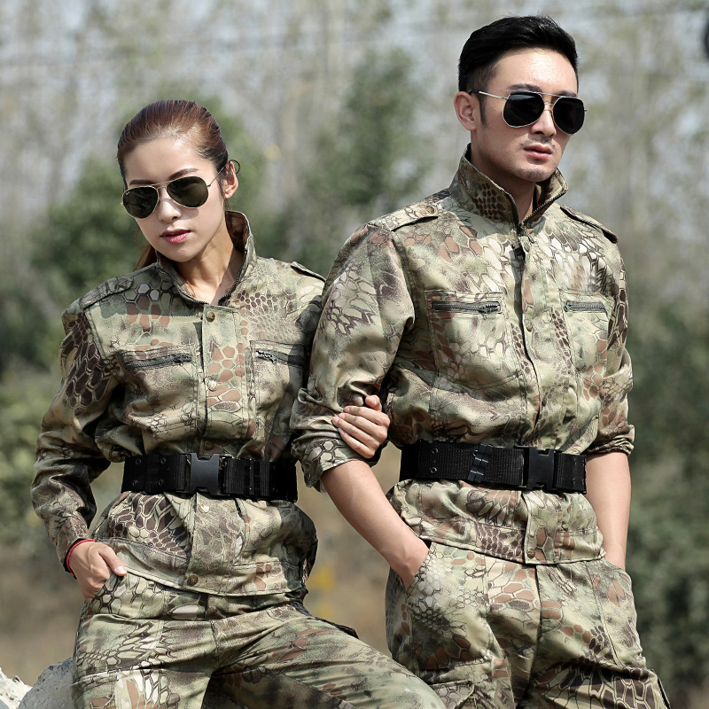 Black Python Hunting Fishing Clothes Men Tactical Hunter Combat Uniform Camo Pants Ghillie Airsoft Suit Female Camouflage Sets