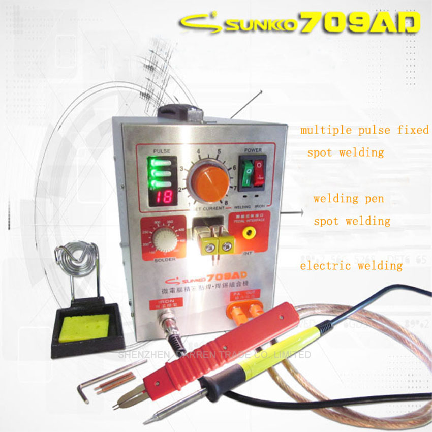 71a +50 Pc 0.1*4*100mm Nickel Sheet Reputation First Painstaking Free By Sunkko 709ad 1.9kw High Power Spot Welder & Soldering Station With Welding Pen