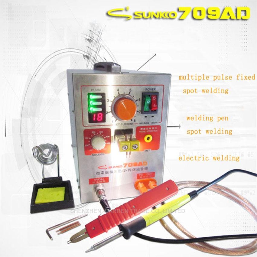 Gratuit par Sunkko 709AD 1.9KW soudeuse par points haute puissance et Station de soudage avec stylo à souder (71A) + 50 pc 0.1*4*100mm feuille de Nickel