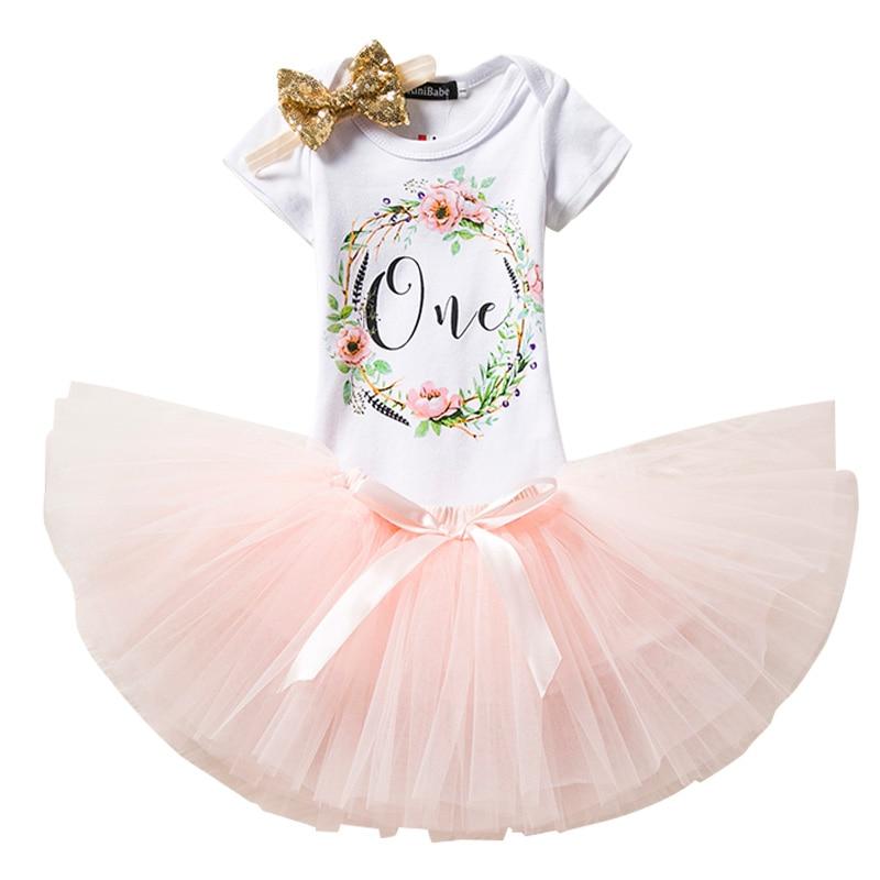 Kids Dresses For Girls 2021 Tutu Event Girls First Birthday Party Infant Dress Baby Girl 1 Year Baptism Clothes Vestido Infantil