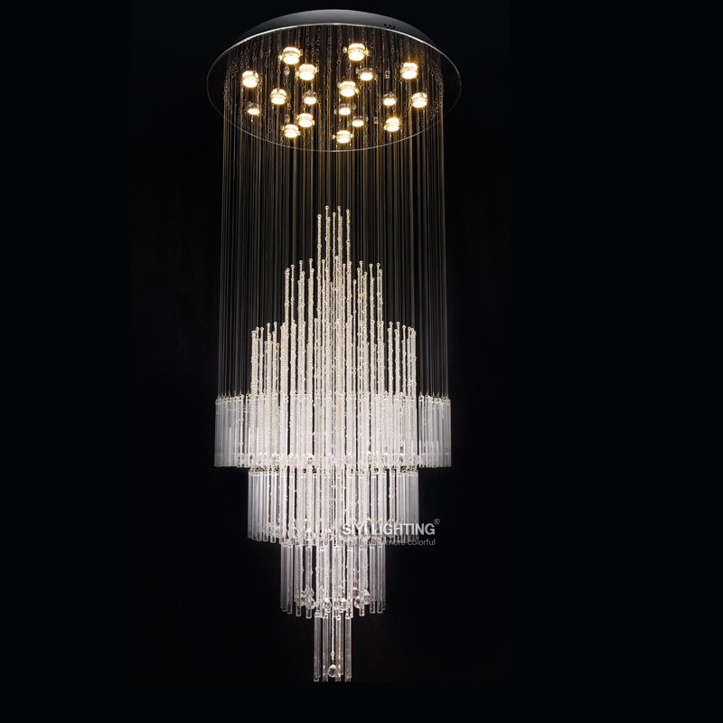 Fashion design round crystal chandelier for Modern crystal chandelier for dining room