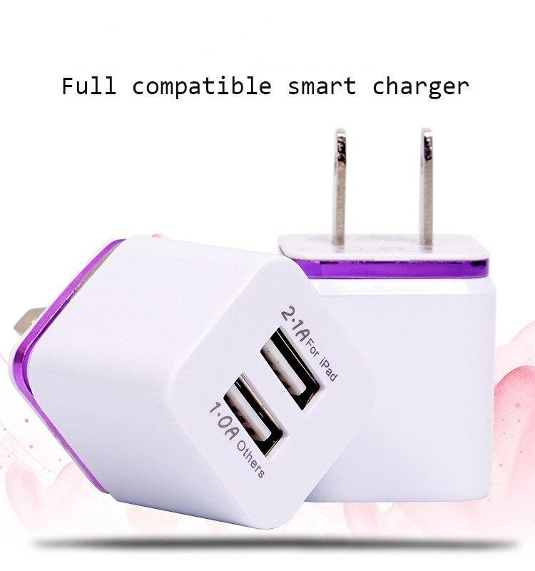 Hohe Qualität USB 5 V 2,1/1A Dual AC Usb-ladegerät Power adapter für...