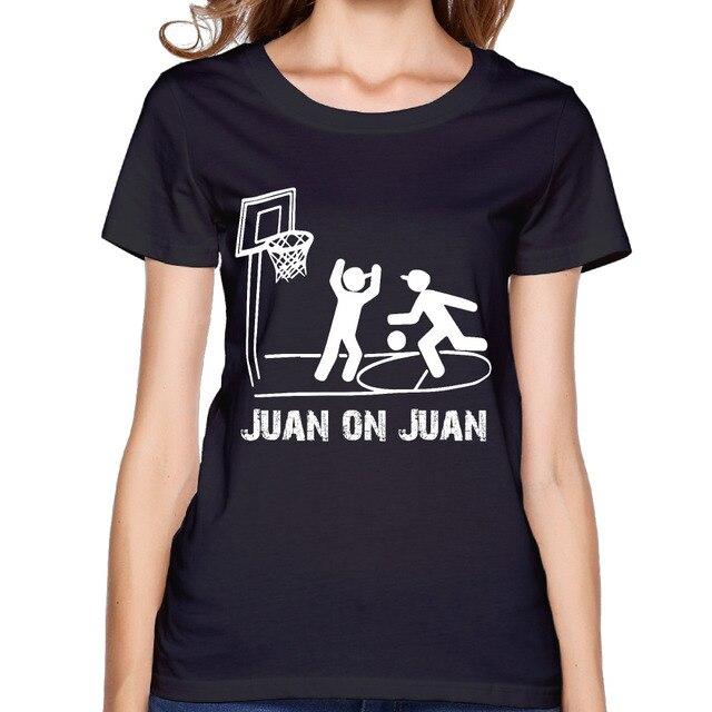 2017 Juan on Juan Funny NBA Print Women Premium Cotton T-shirt Pattern  Cartoon Fashion Printing Design Summer Dance 8eea3da91