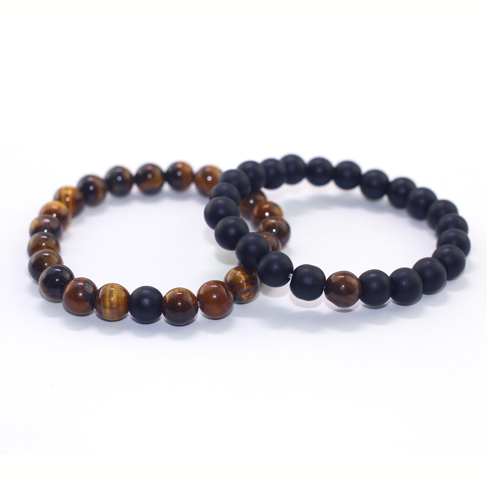 Men Bracelets Bangles Natural Stone Bracelets For Women GIFT Tiger Eye & Hematite & Black Obsidian Stone Bracelet Drop shipping