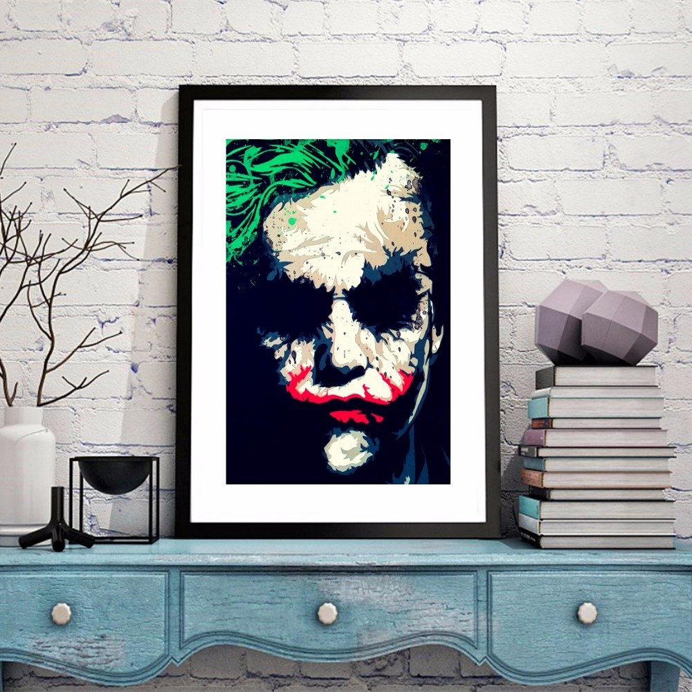 Mad Joker Vintage Movie Canvas Art Print Painting Poster Wall Pictures For Living Room Decoration Home Decor No Frame in Painting Calligraphy from Home Garden