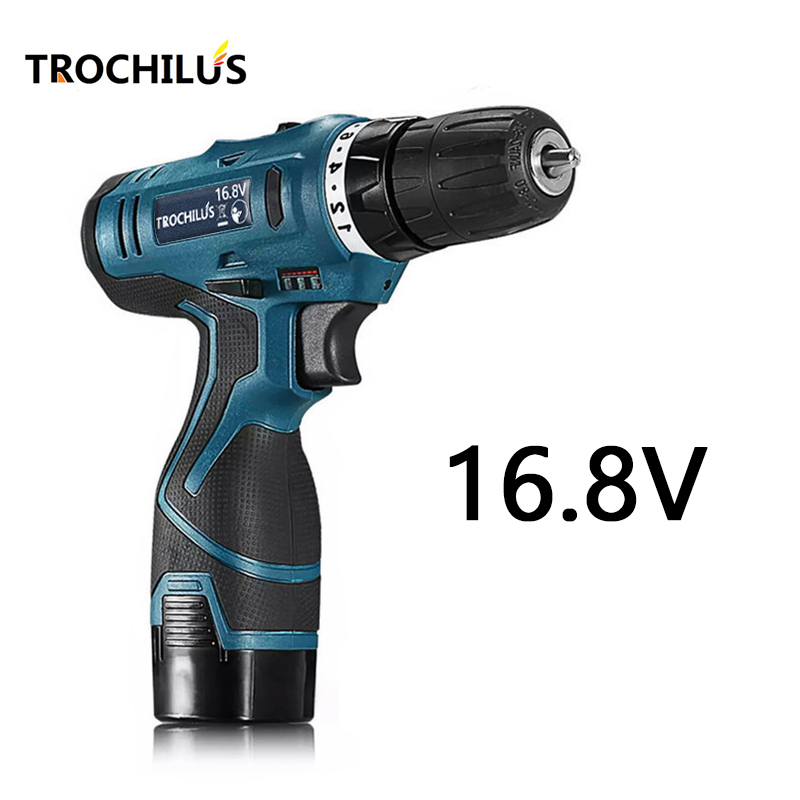 цена на 16.8V power tools cordless drill Multi-function electric screwdriver  with lithium battery Rechargeable miniature electric drill