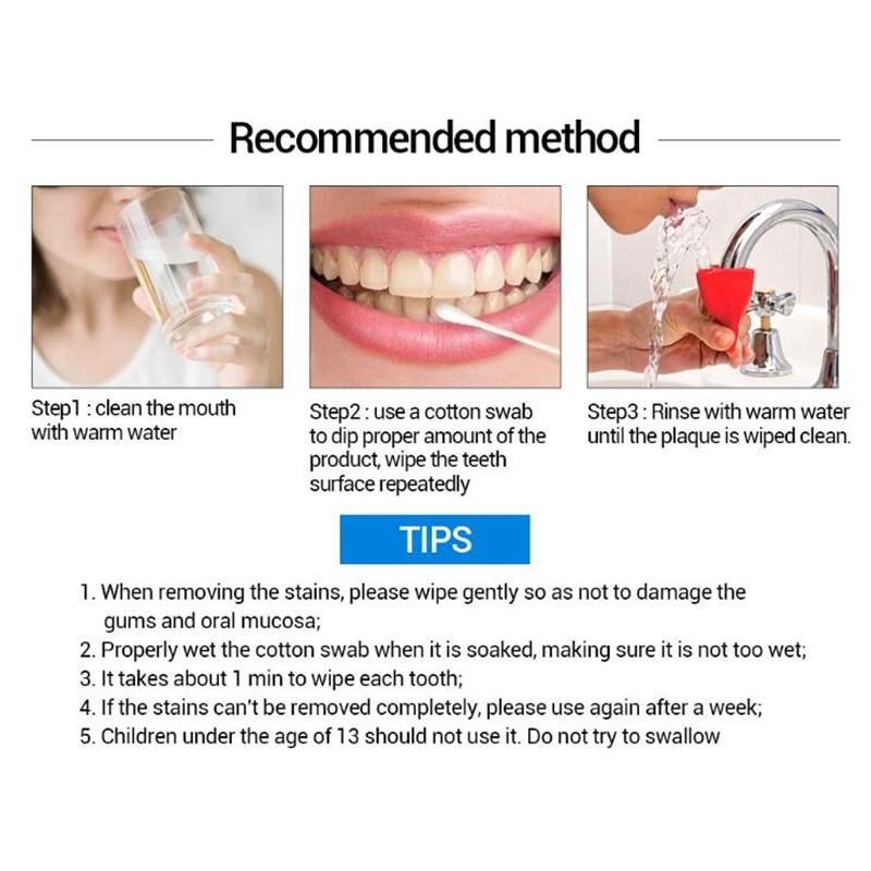 Lanbena Zähne Bleaching Essenz Pulver Oral Hygiene Reinigung Serum Entfernt Plaque Flecken Zahn Bleichen Dental Werkzeuge Zahnpasta Gesicht