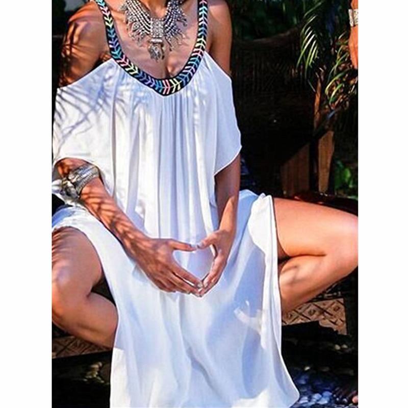 New Handmade Beach Cover Up 2018 Bathing Suit Cover Ups Long White Beach Dresses Sexy Bikini Swimwear Cover-ups Plus