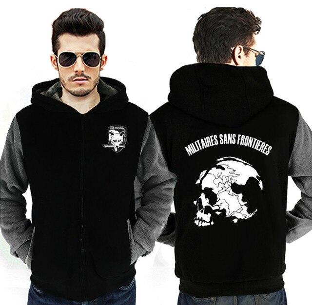 D'inverno Addensare Metal Gear Sans Cerniera Frontieres Militaires In Felpa Cappotto Dropshipping Calore Hound Cappuccio Con Solid Giacca Fox q8Wn5zfzH