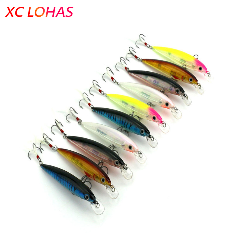 11cm 14g Hard Plastic Minnow Lure with Feather Artificial Fishing Lures 3D Fish Eye Fake Swimbait Simulation Crankbait MI090