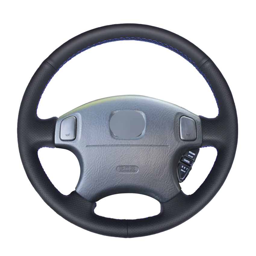 Black PU Artificial Leather Car Steering Wheel Cover for Honda Accord 6 1998- <font><b>2002</b></font> Odyssey 1998-2001 <font><b>Acura</b></font> CL 1998-2003 <font><b>MDX</b></font> image