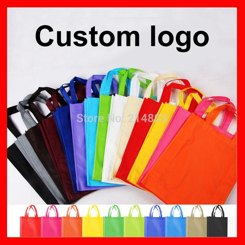 Bolsa de Compras Reutilizável com Logotipo Lote Tamanho W20xh25xd8cm Eco pp Não Tecido Personalizado 500 Pçs –