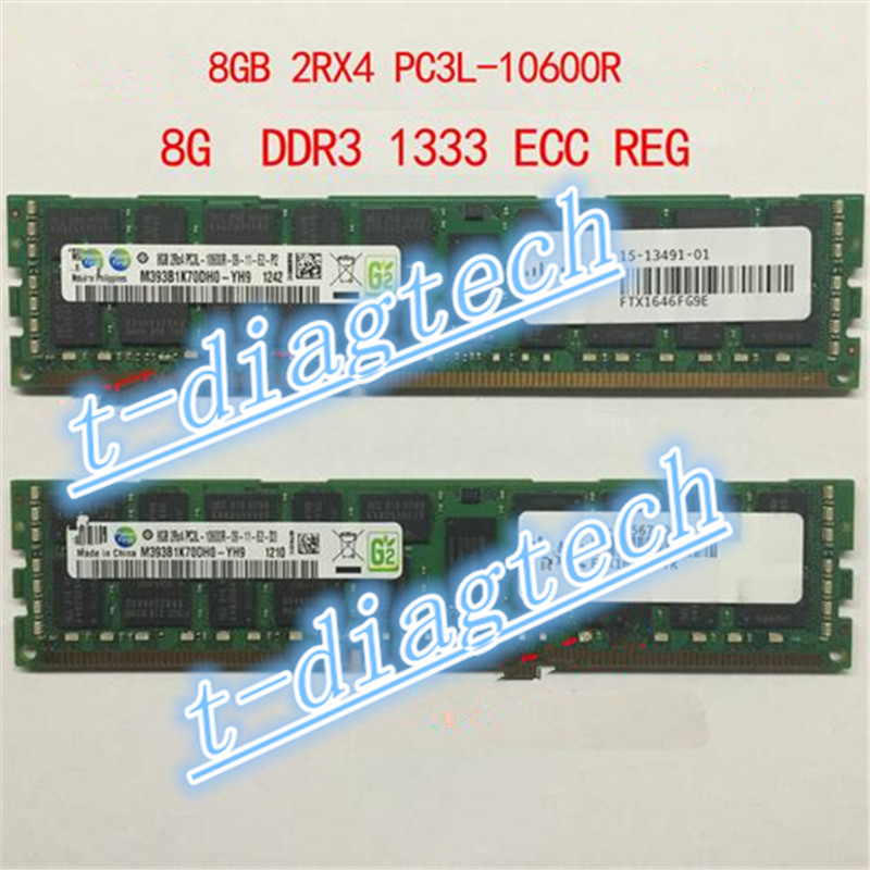 ФОТО free ship ,whole sales for  8G 2r*4  DDR3 ECC  PC3L-10600R server momery , 8G DDR3 ECC for C200M2 C210M2 C250M2