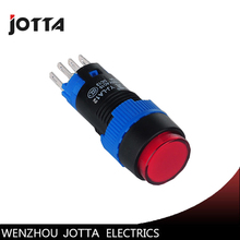 LA12-11DN/Y round  illuminated momentary push button switch