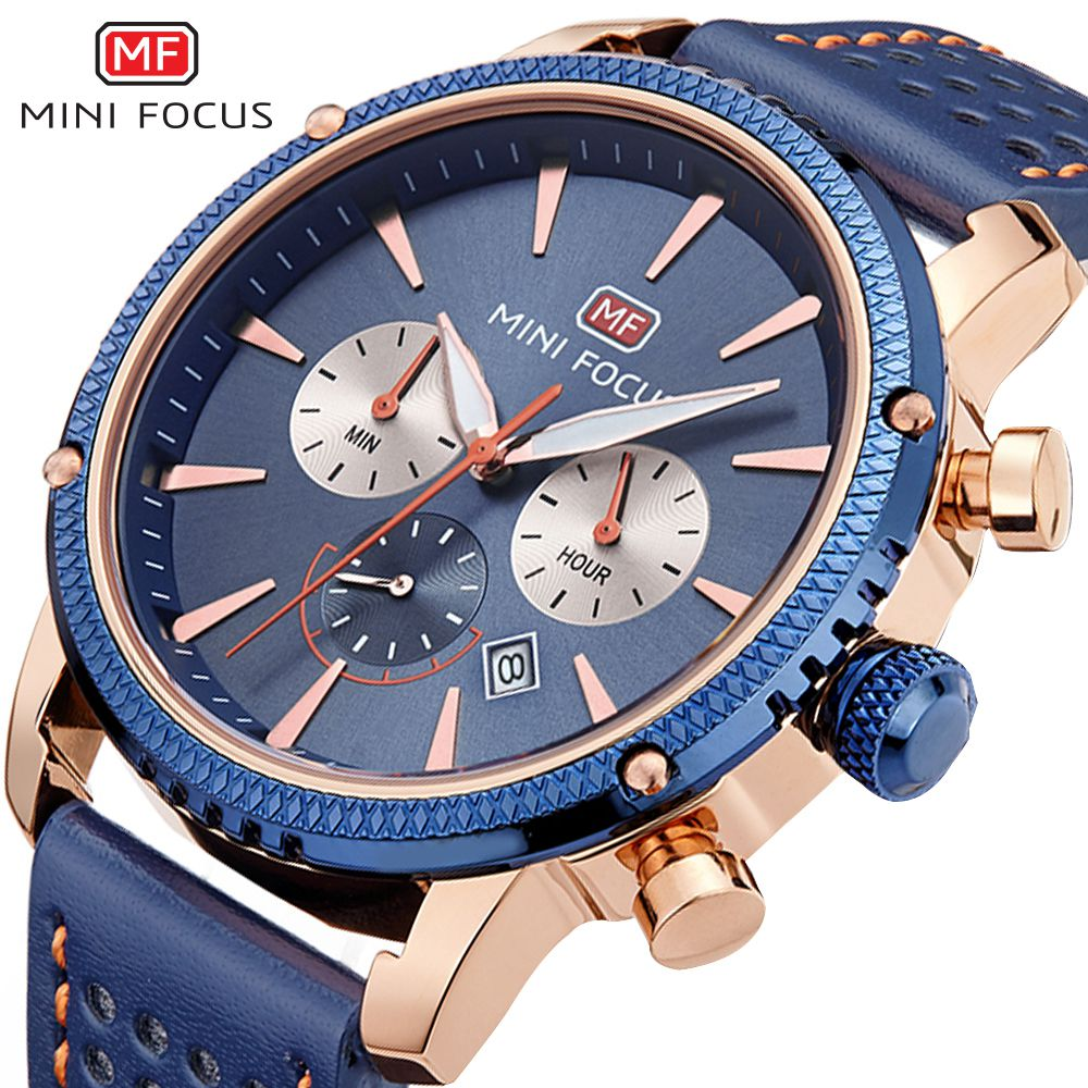 MINI FOCUS Men Watches Famous 2018 Top Brand Leather Strap Quartz Wrist Watch Male Sport Clock Montre Homme Relogio Masculino classic simple star women watch men top famous luxury brand quartz watch leather student watches for loves relogio feminino
