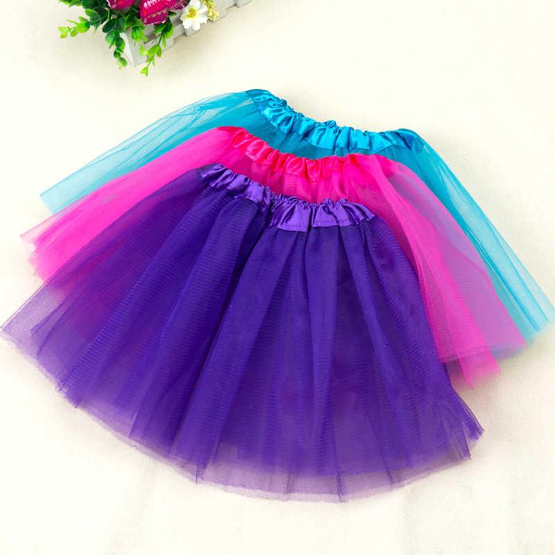 2-7Y แฟชั่นสาวเสื้อผ้า Tutu กระโปรงเจ้าหญิงเด็กสาวกระโปรงน่ารัก Ball ชุด Pettiskirt TUTU เสื้อผ้าเด็ก
