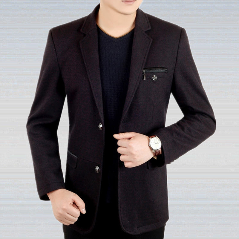Mens Wool Blazers 2018 new spring Autumn High Quality ...