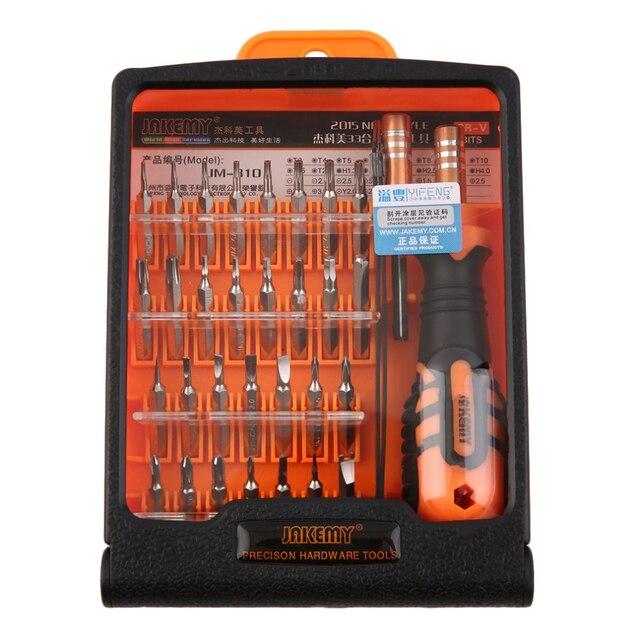 JAKEMY JM-8101 33 in1 Многофункциональный набор высокоточных отвёрток мини электронные отвертки для ремонта инструментов набор