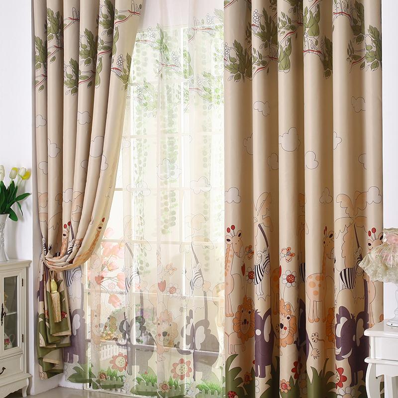 cortinas de saln comedor dormitorio nios nios nias de dibujos animados de alta calidad cortina de