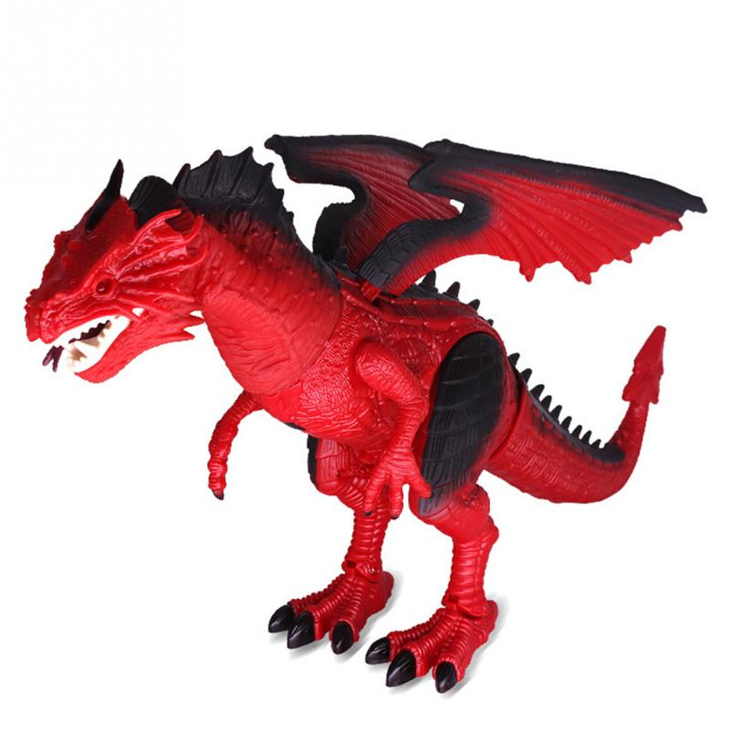 RC Walking Dinosaur Remote Control Dragon Flame Toy with Shaking Head Light Up Eyes and Sounds new dragon tyrannosaurs acoustooptical ultralarge electronic remote control walking dinosaur tyrannosaurus rex electric toy