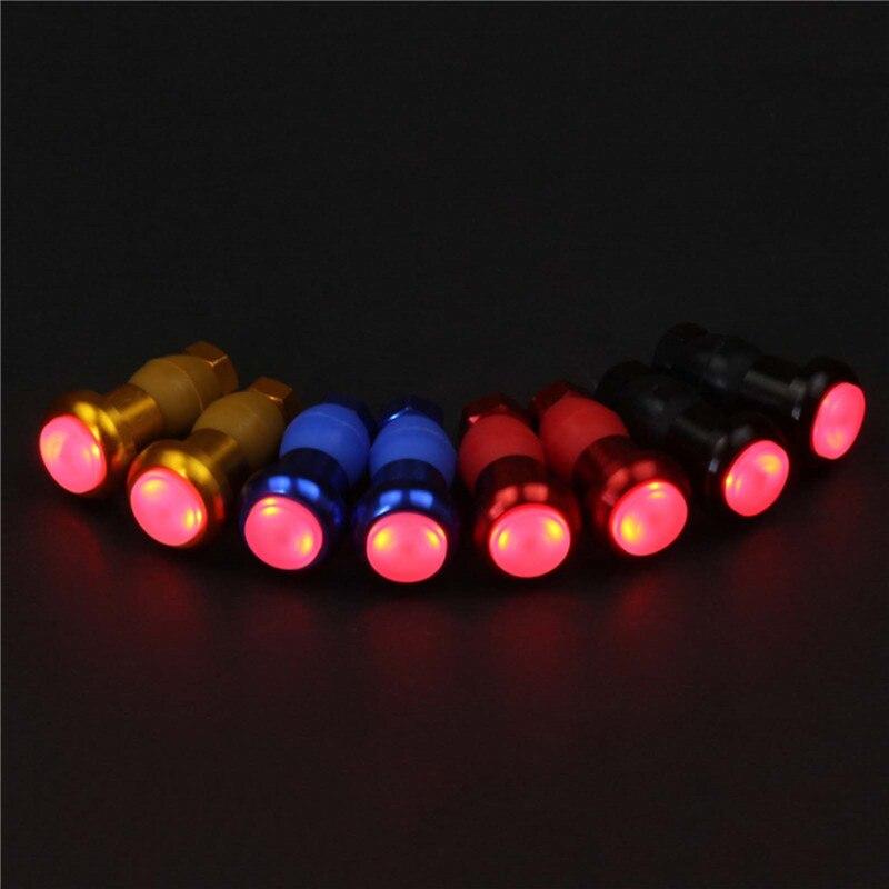 1 par colorido bicicleta manillar enchufe LED luz de flash señal de - Ciclismo