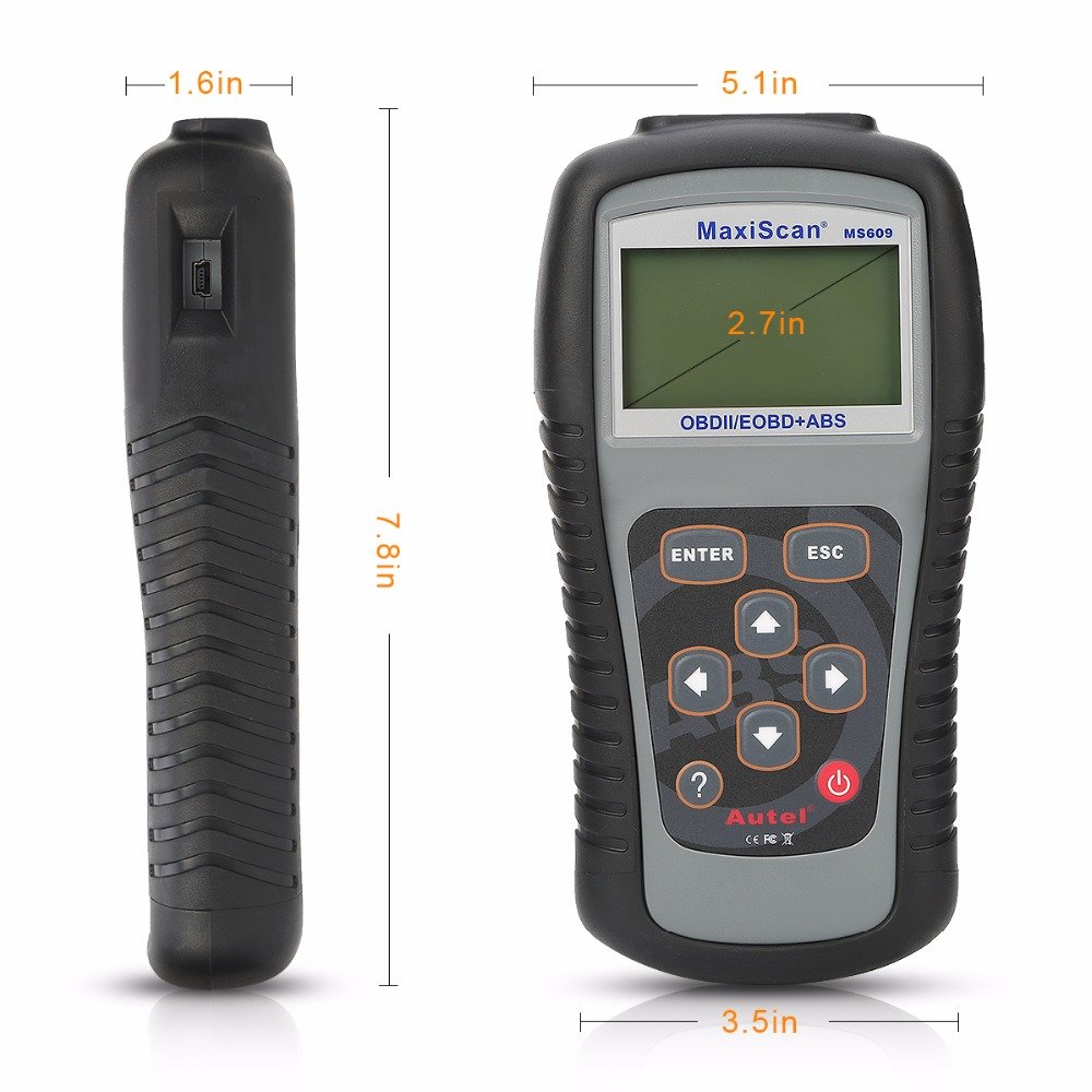 Image 2 - Autel Maxiscan MS609 OBD2 Scanner Code Reader with Full OBD2 Functions ABS Diagnostics DTC Definitions Advanced of MS509 & AL519 on