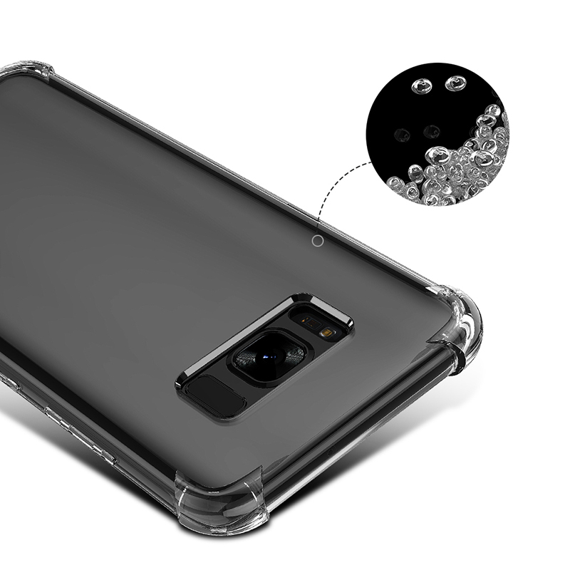 Clear ShockProof Soft Silicone Case For Samsung Galaxy S8 S9 S10 Plus 10E M10 M20 A6 A7 A8 Plus 2018 S6 S7 edge S10 Lite Cover  (3)