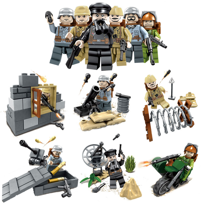 New LEGO Set WW2 World War II Soviet Army VS Afghan Army Soldiers Figure Blocks