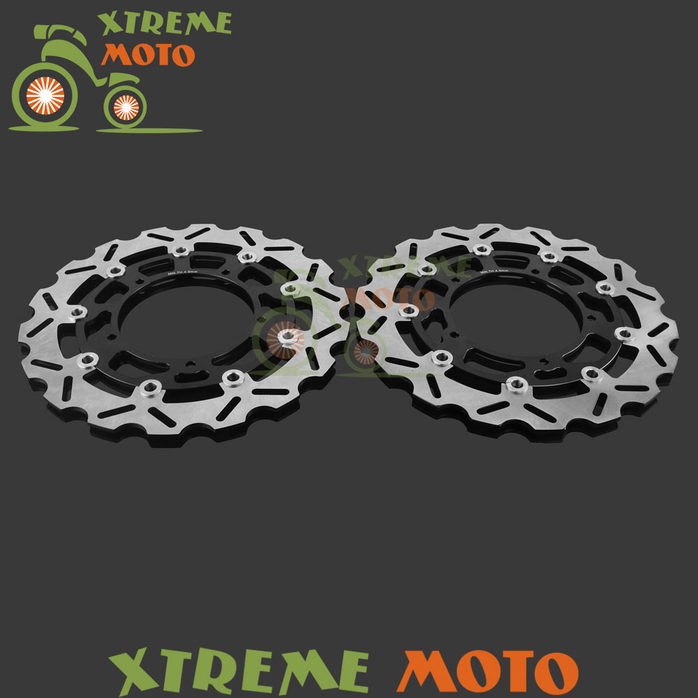 Motorcycle Front Floating Brake Disc Rotor For Yamaha FZ1 FZ1-S Fazer 2006 2007 2008 2009 2010 2011 2012 2013 YZF R1 2004-2006 цена