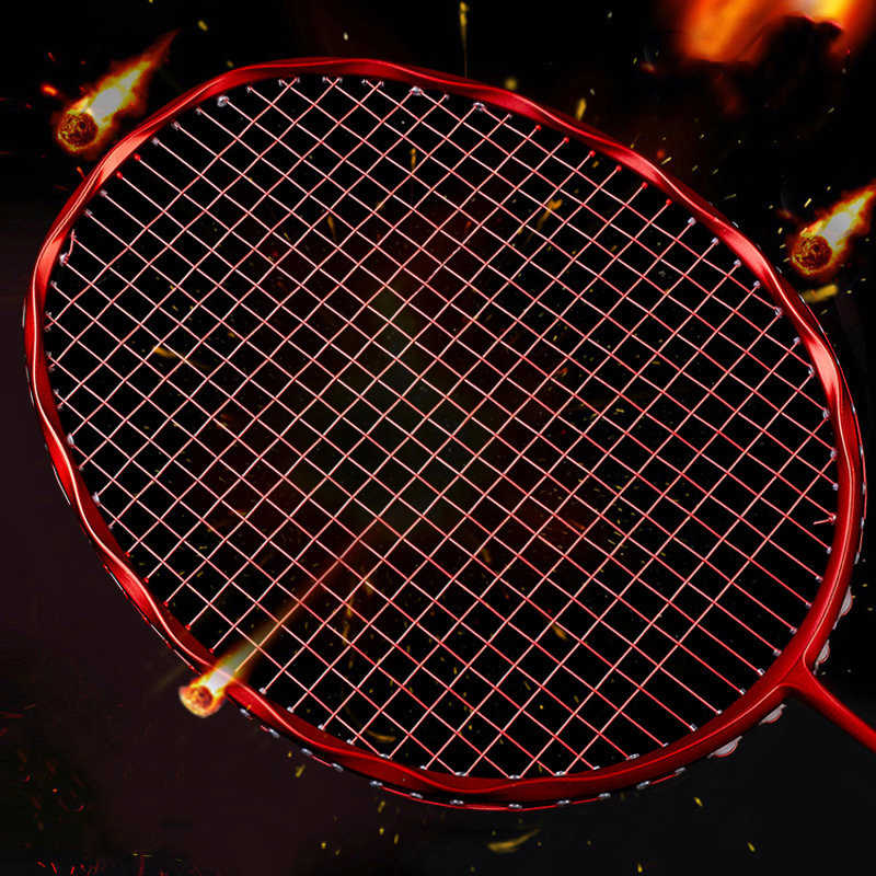 Carbon Badminton Racket Professional 28-30lbs Offensive Original Sport 8 Multi Color Options Ultralight Z Speed Raquete