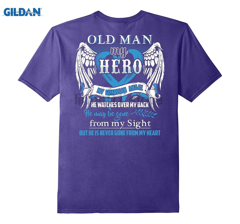 GILDAN Old Man is my guardian angel shirt-Old Man in heaven T-Shirt Hot Womens T-shirt