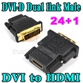 Новый 24 + 1 DVI Мужчина К DHMI Женский Адаптер Конвертер Адаптер Разъем Dual Link для HDTV PC ЖК Оптовая