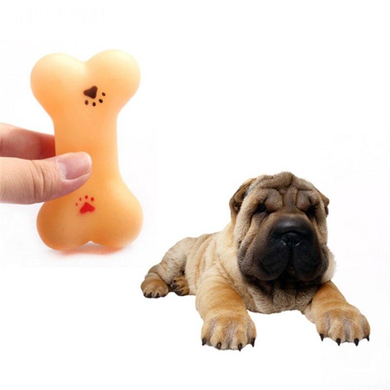 Резиновая устойчивы к укусить Bone Собака Щенок моляров резиновый мяч играть зубы Training Термальность Пластик Pet Игрушки для собак y6