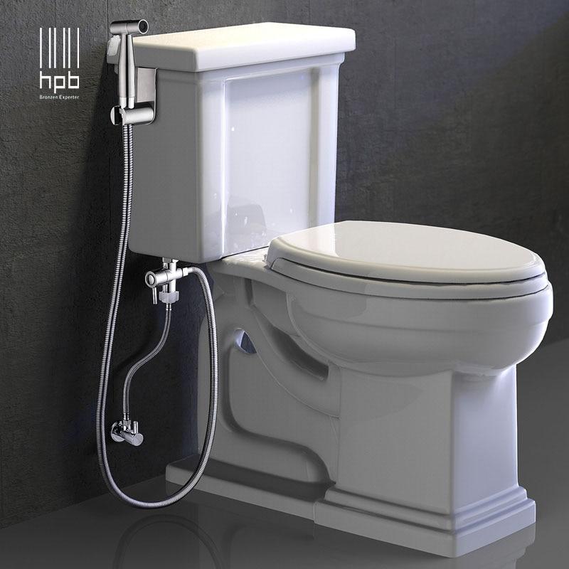 adaptador de la v/Ã/¡lvula no incluido Kit OurLeeme acero inoxidable bid/Ã/© Handheld pulverizador con tipos de chorro dual para WC pa/Ã/±al del pa/Ã/±o de limpieza