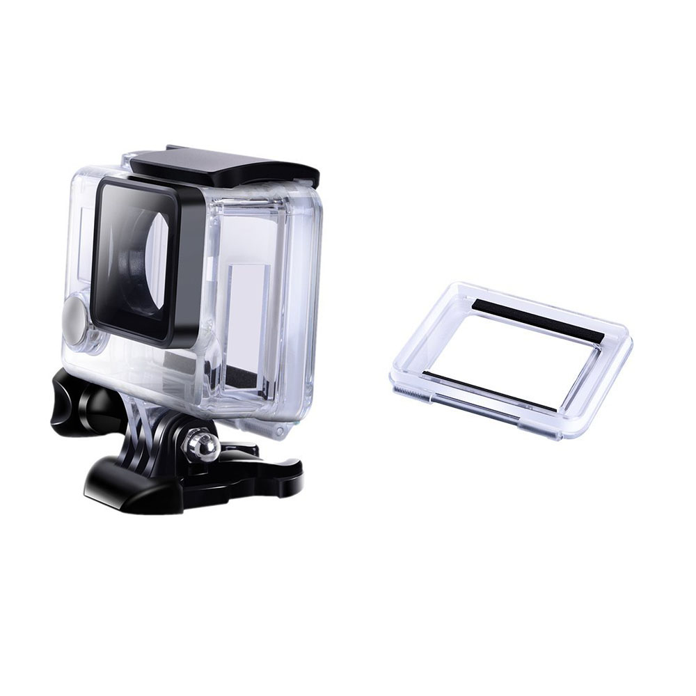 цена на Side Opening Hole Protective Shell Case Skeleton Housing Box +Touch back door For GoPro Hero 3+ Hero 4 Accessory