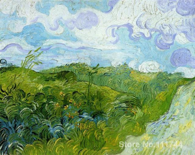 Beroemde art voor slaapkamer Groene Tarwe Velden Vincent Van Gogh ...