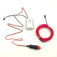 12V Sound Activated With Cigar Lighter Drives 3Meters 2 3mm Skirt EL Wire Neon Light Tube