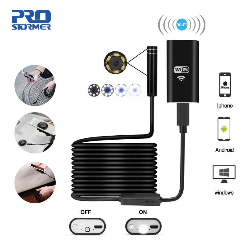 PROSTORMER Wifi Endoscoop Camera 720P Hard/Softwire Borescope voor iphone Android 1/2/3.5/5 /7/10M Waterdichte Inspecte Camera 5