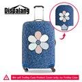 Dispalang nova tampa mala 3d jean denim floral design elástica à prova d' água viagem impressão bagagem covers para 20 22 26 28 30 polegada