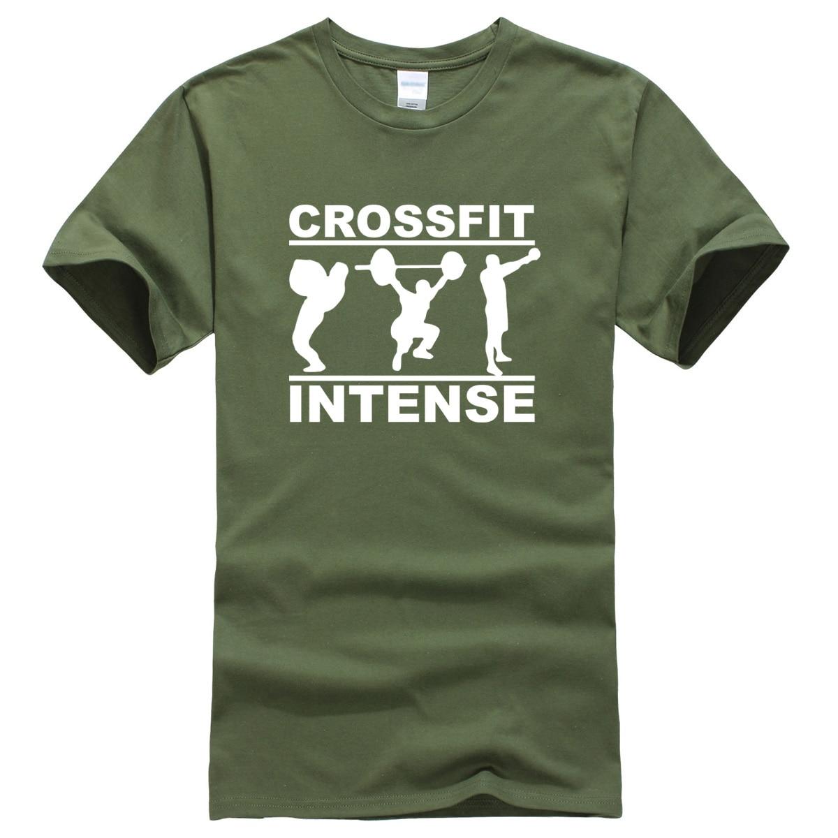 Crossfit Intense 2019 summer short sleeve 100% cotton T-shirt fashion casual brand men's T-shirts Crossfit tops tee hip hop