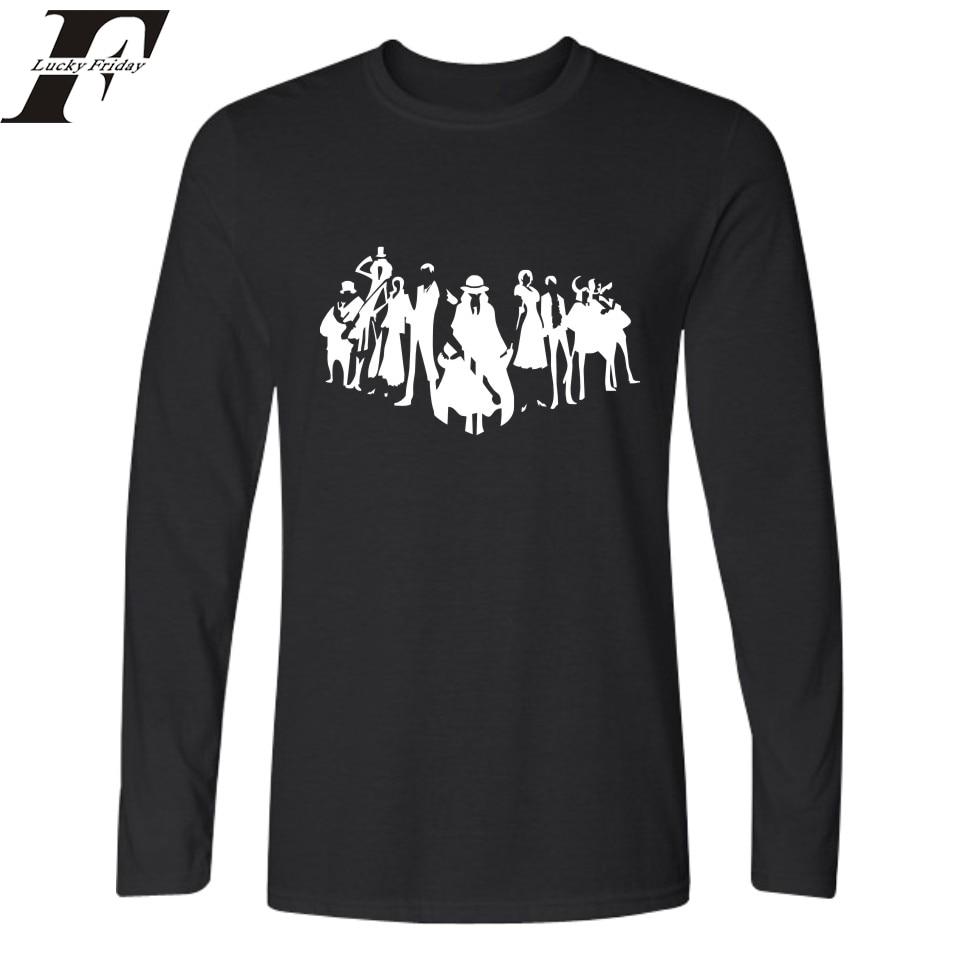 T shirt white brand - One Piece Anime T Shirt Men Hip Hop Tee Harajuku Long Sleeve Ace Luffy T Shirt And Men T Shirts Brand Famous In Tee Shirts Women