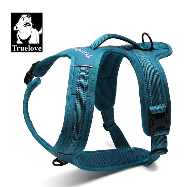 Truelove Sport Nylon Reflective No Pull Dog Harness Outdoor Adventure Pet Vest with Handle xs to xl 5 colors in stock factory 1