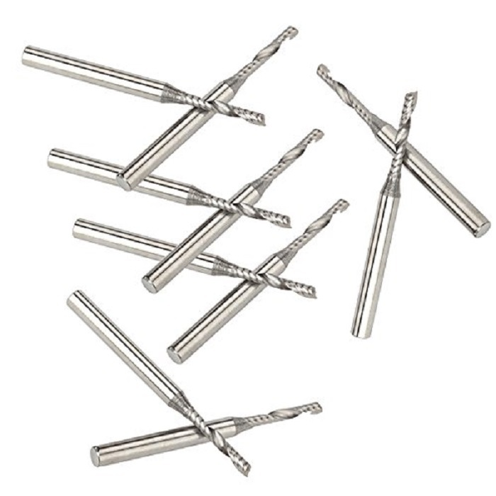 10pcs 3.175 Carbide CNC Milling Cutters Tools Single Flute Spiral Bits Router End Mill 2mm 3pcs 5 22mm hq aaa single flute cutting tools end mill bits one spiral cutters engraving drill bits cnc router tools