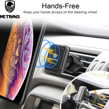 Metrans Magnetic Car Phone Holder Air Vent Car Phone Stand Magnet Mobile Holder Support Heatproof Car Mount Holder for iPhone 7