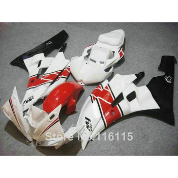 ABS full fairing kit fit for YAMAHA Injection molding YZF R6 2006 2007 red black white plastic fairings set YZF-R6 06 07 HY40