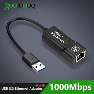 Image 1 - Adaptador de red Ethernet, USB 3,0, 2,0/Typc C, Rj45, Lan, a RJ45, Lan, adaptador Ethernet para Windows 10, Macbook, Xiaomi, Mi PC