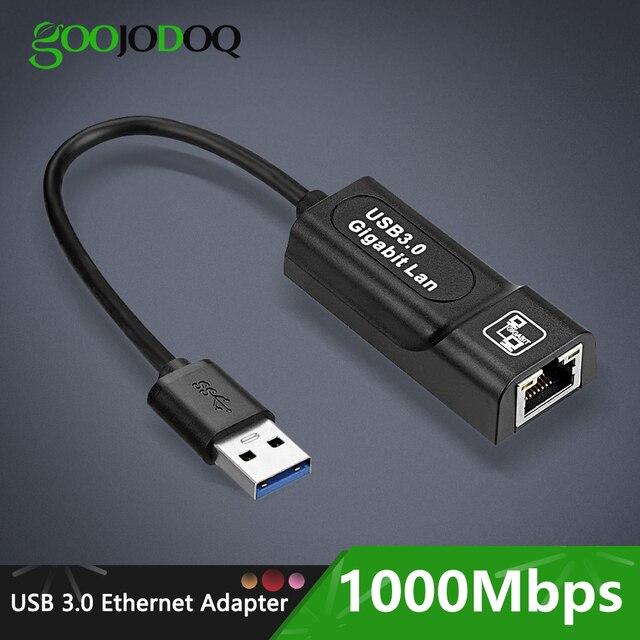 Adaptador de red Ethernet, USB 3,0, 2,0/Typc C, Rj45, Lan, a RJ45, Lan, adaptador Ethernet para Windows 10, Macbook, Xiaomi, Mi PC
