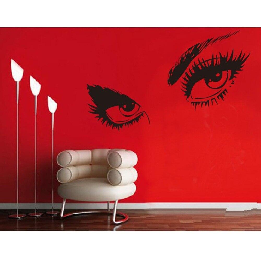 Ładne audrey hepburn\'s piękne oczy naklejki vinly ściany diy wystrój ...