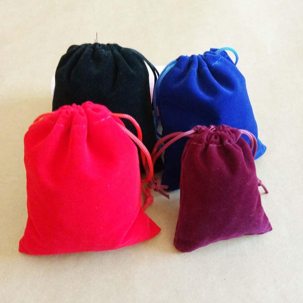 500pcs 7x9 10x12cm Velvet Bags Jewellery Pouches Gift Bags Wedding Drawstring Bag Woman Jewelry Display Gift